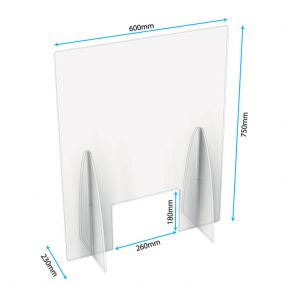 Freestanding Sneeze Screens with Cutout