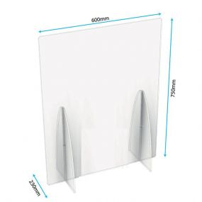 Freestanding Sneeze Screens without Cutout