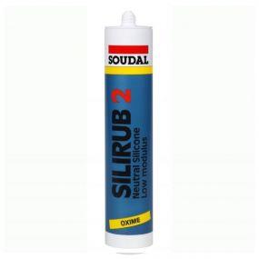 Soudal Silirub White Neutral Cure Silicone 300ml