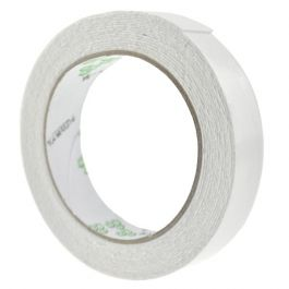 Reel of white foam double-sided tape