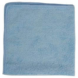 Folded blue microfibre cloth