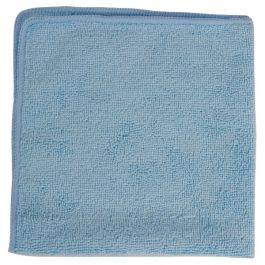 Folded blue microfibre cloth