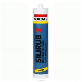 Soudal Silirub White Neutral Cure Silicone 300ml