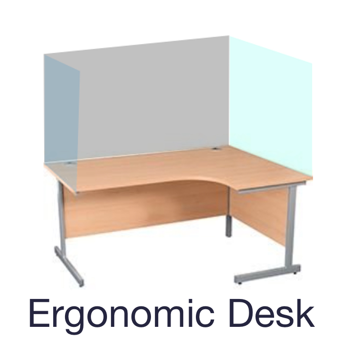 Desk Back Clear Screen